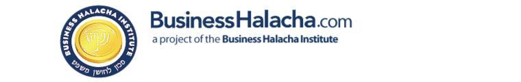 BUSINESS HALACHA INSTITUT